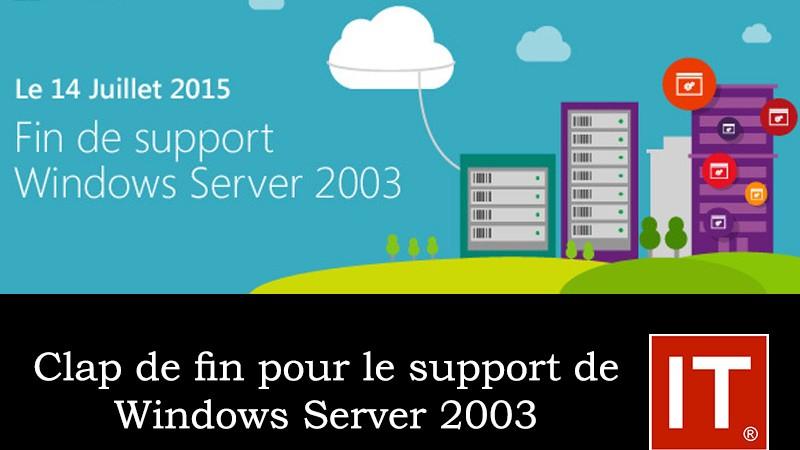 Clap de fin pour le support de Windows Server 2003